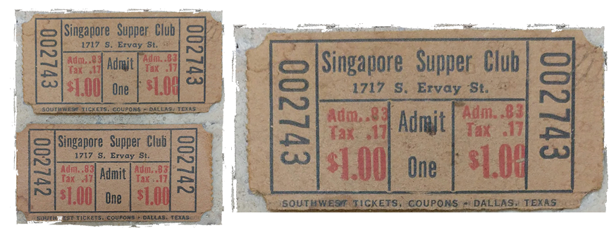 Singapore Supper Club tickets